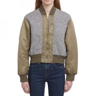 Rag & Bone Army Green 'Roman' Bomber Jacket