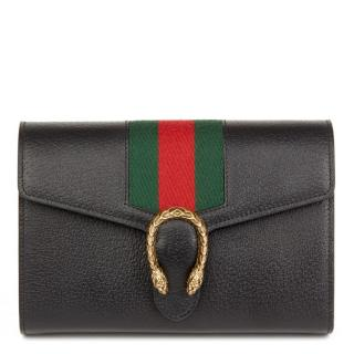 Gucci Leather Web Stripe Mini Dionysus Wallet On Chain