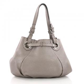 Fendi Selleria Pomodorino Leather Tote Bag