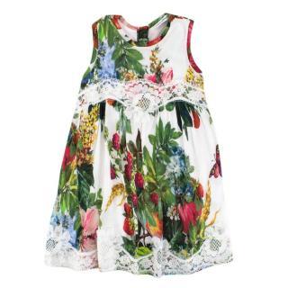 Dolce & Gabbana Girl's Floral-print Dress