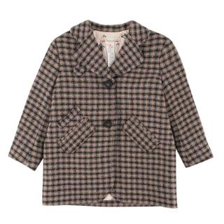 Bonpoint Girls' Wool-blend Checked Coat