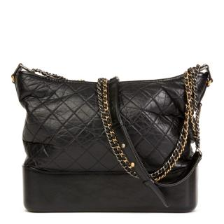 Chanel Aged Leather Quilted Gabrielle Hobo Bag