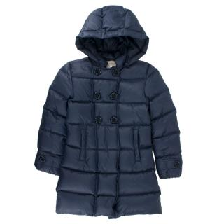 Gucci Girls' Navy Hooded Down Jacket