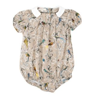 Gucci Bird Print Short Sleeved Baby Suit