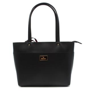 Mary Quant Black Leather Tote bag