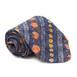 Prochownick Floral-print Silk Tie