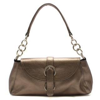 Furla Bronze Leather Shoulder Bag
