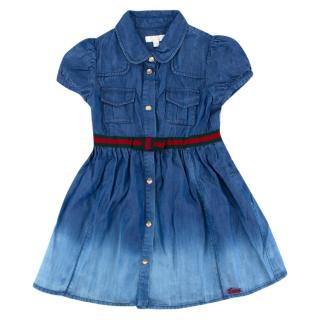 Gucci Girls 18-24 Months Denim Dress