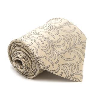 Stefano Ricci for Harrods Cream Printed Silk Tie