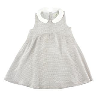 Fendi Girls' Logomania Printed Silk Dress