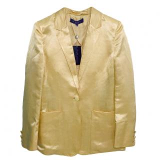 Ralph Lauren Collection Gold Blazer