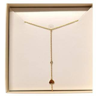 Sydney Evan Gold Tone Chain Ring Bracelet