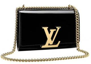 Louis Vuitton Vernis Chain Louise MM Bag