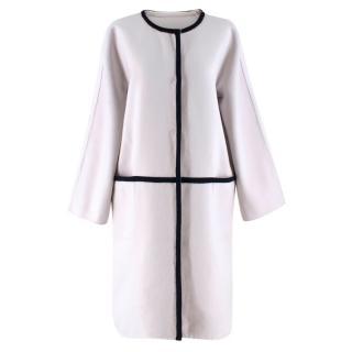 Max Mara Pale Grey Wool-blend Coat