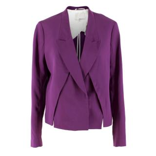 3.1 Phillip Lim Orchid Front Panel Slits Cropped Jacket