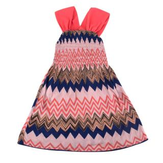 Missoni Girls' Multi-coloured Chevron-print Soft Knit Dress