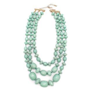Bespoke Triple Row Green Bead Necklace