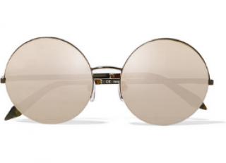 Victoria Beckham Supra Mirrored Round Sunglasses