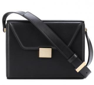 Victoria Beckham Black Leather Vanity Crossbody Bag