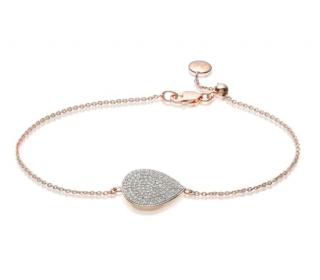 Monica Vinader Rose Gold Vermeil Diamond Alma Bracelet