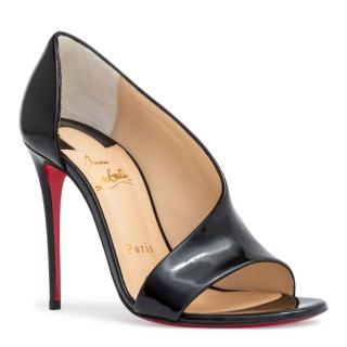 Christian Louboutin Black Patent Phoebe 100 Pumps