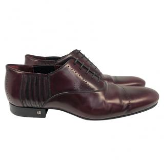 Louis Vuitton burgundy leather brogues