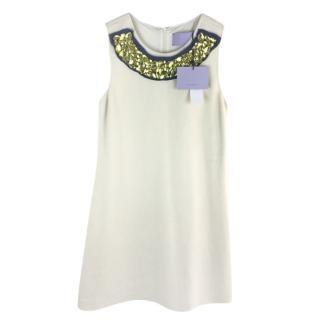 Vera Wang Lavender Label Embellished Wool Dress