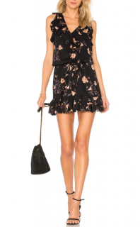 Paige Farfalla Ruffle Trim Sleeveless Printed Dress