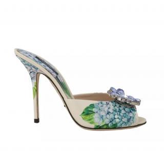 Dolce & Gabbana Embellished Hydrangea mules