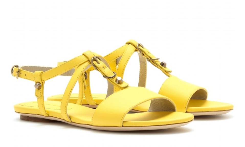 Balenciaga Yellow Stud Detailed Sandals