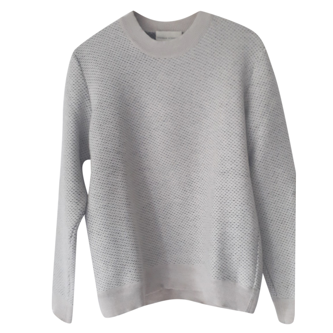 Stephan Schneider Men's Grey Knit Wool Jumper
