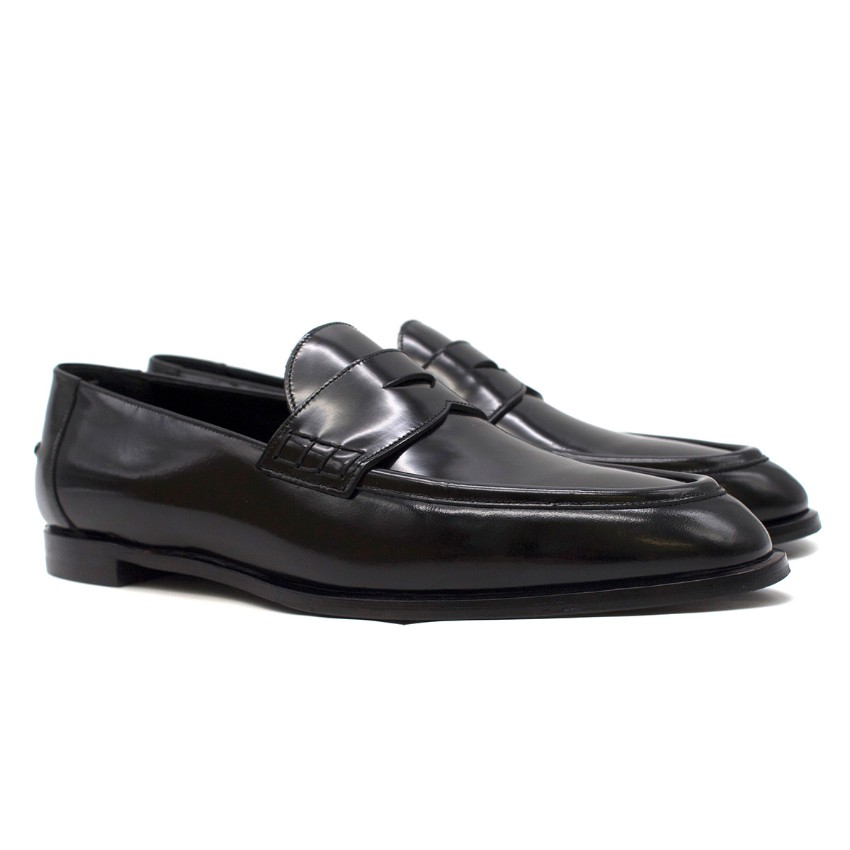 Burberry Black Patent Leather Oban Loafers