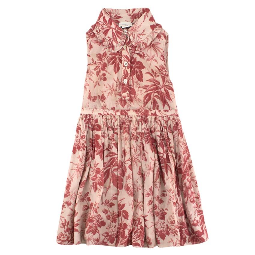 Gucci Girls' Floral-Print Sleevless Dress