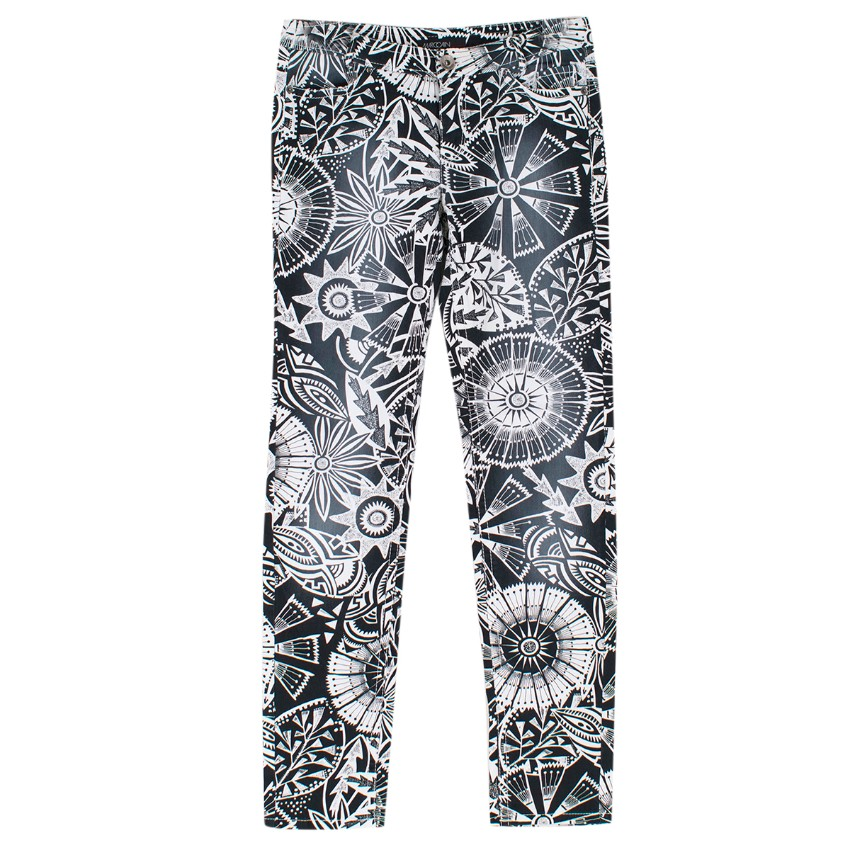 Marc Cain Black and White Print Denim Jeans