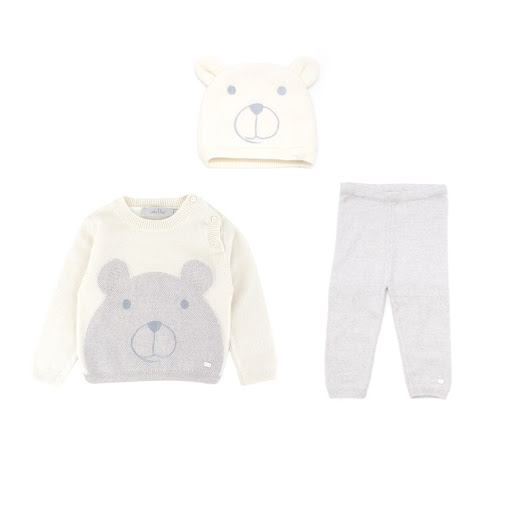 Baby Dior White Wool & Cashmere Blend Sweater