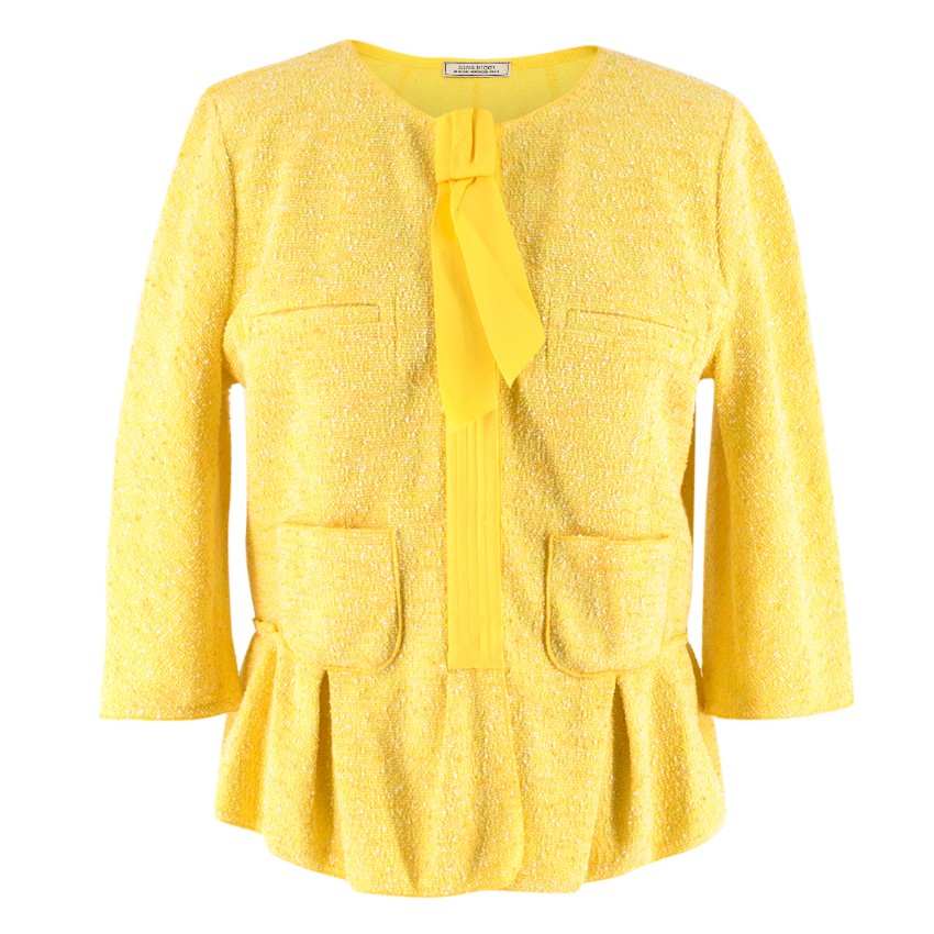 Nina Ricci Yellow Tweed Jacket