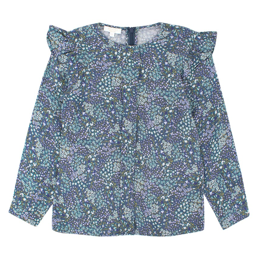 Gucci Girls 5-years Blue Floral Long-sleeved Top