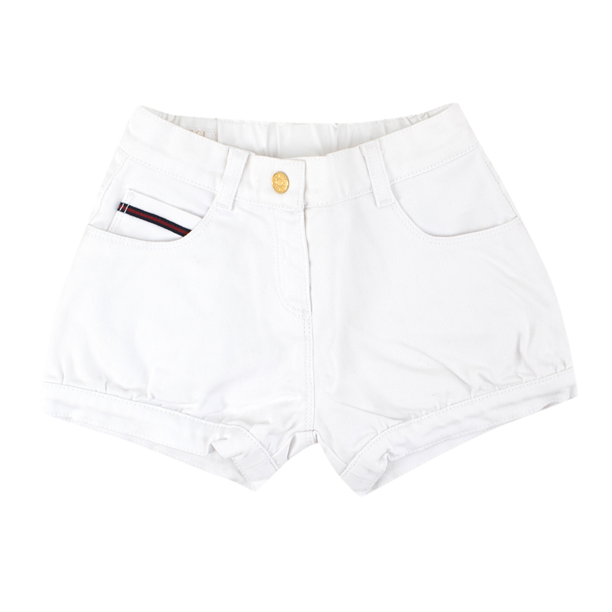 Gucci Baby 2Y White Denim Shorts