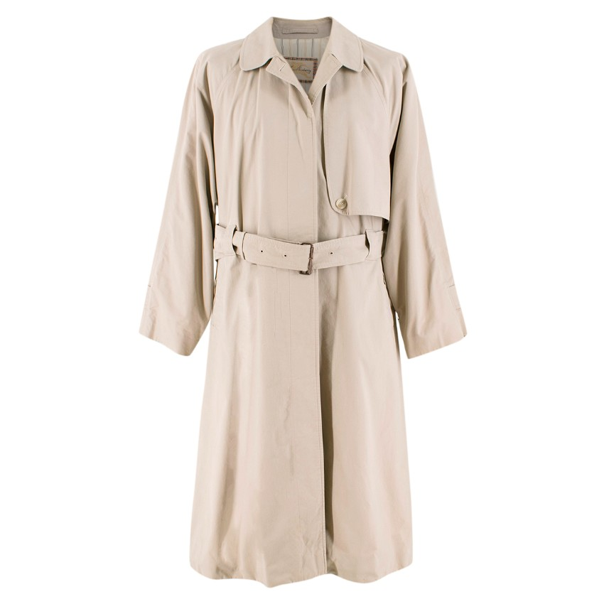 Burberry Vintage Beige Belted Trench Coat