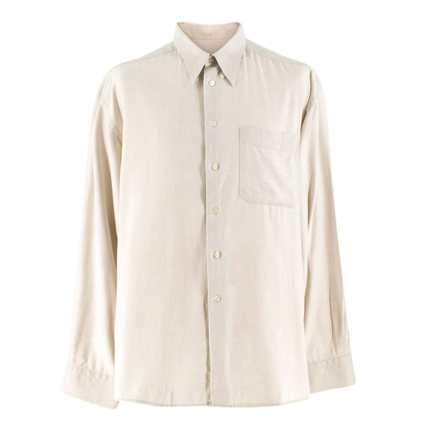Harrods Beige Long-sleeved Shirt