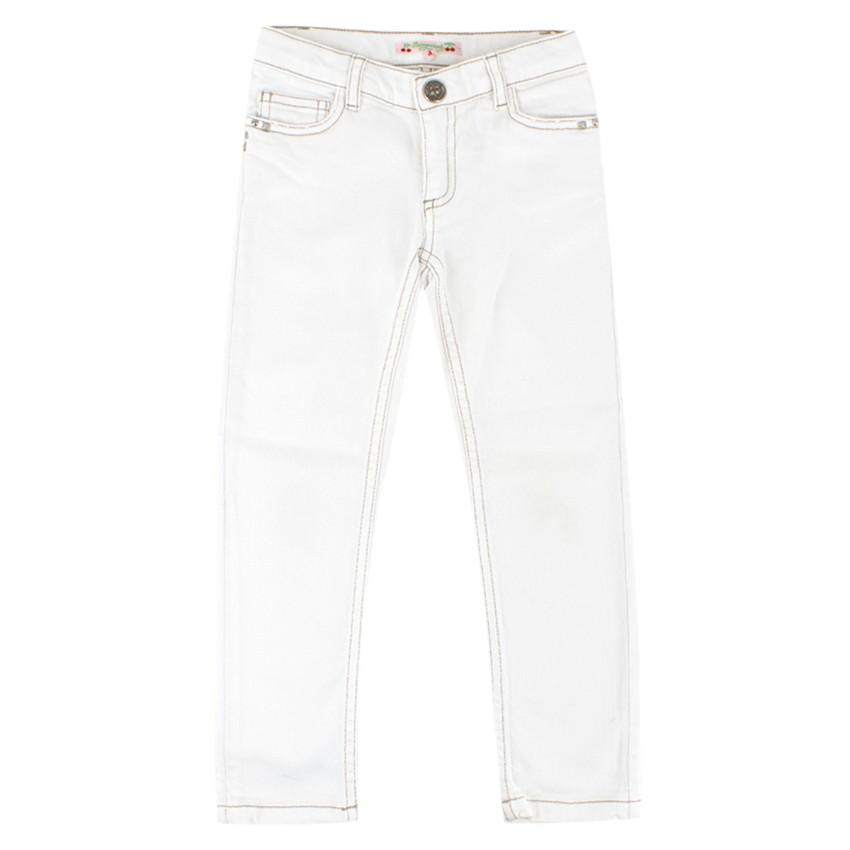 Bonpoint Girls White Denim Jeans