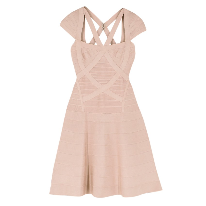 Herve Leger Nude Beatriz Essential A-line Dress