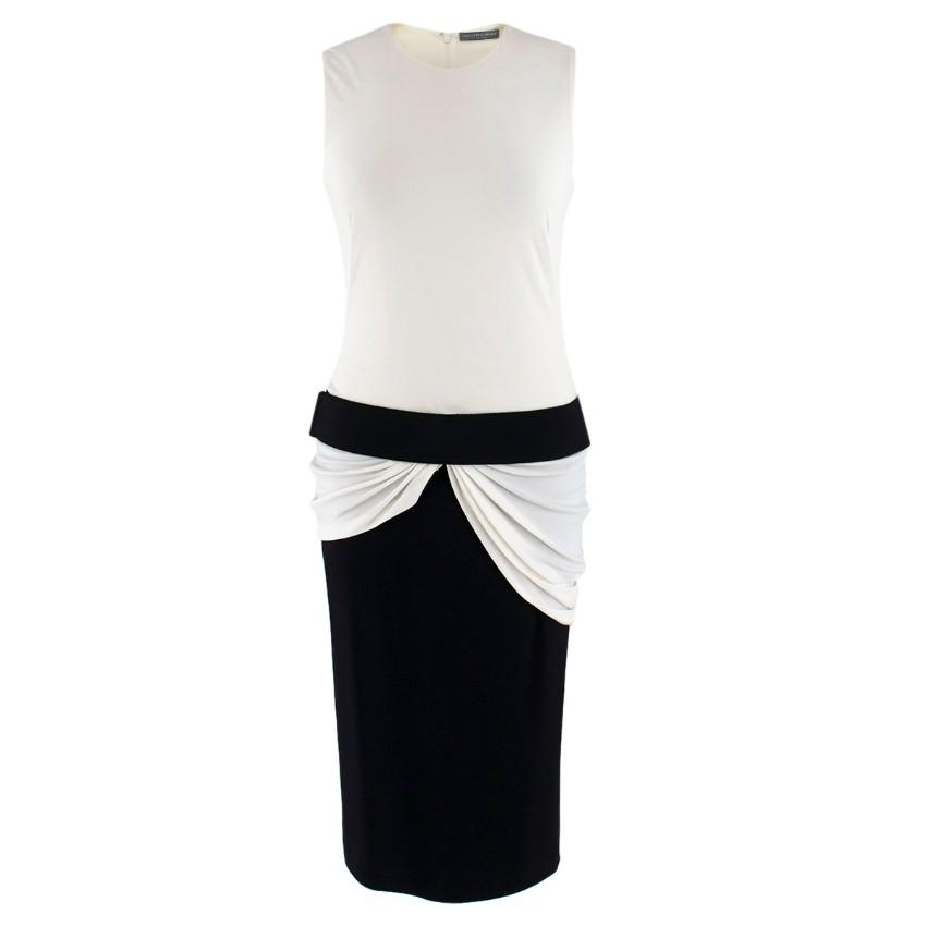 Alexander McQueen Black & White Sleeveless Dress