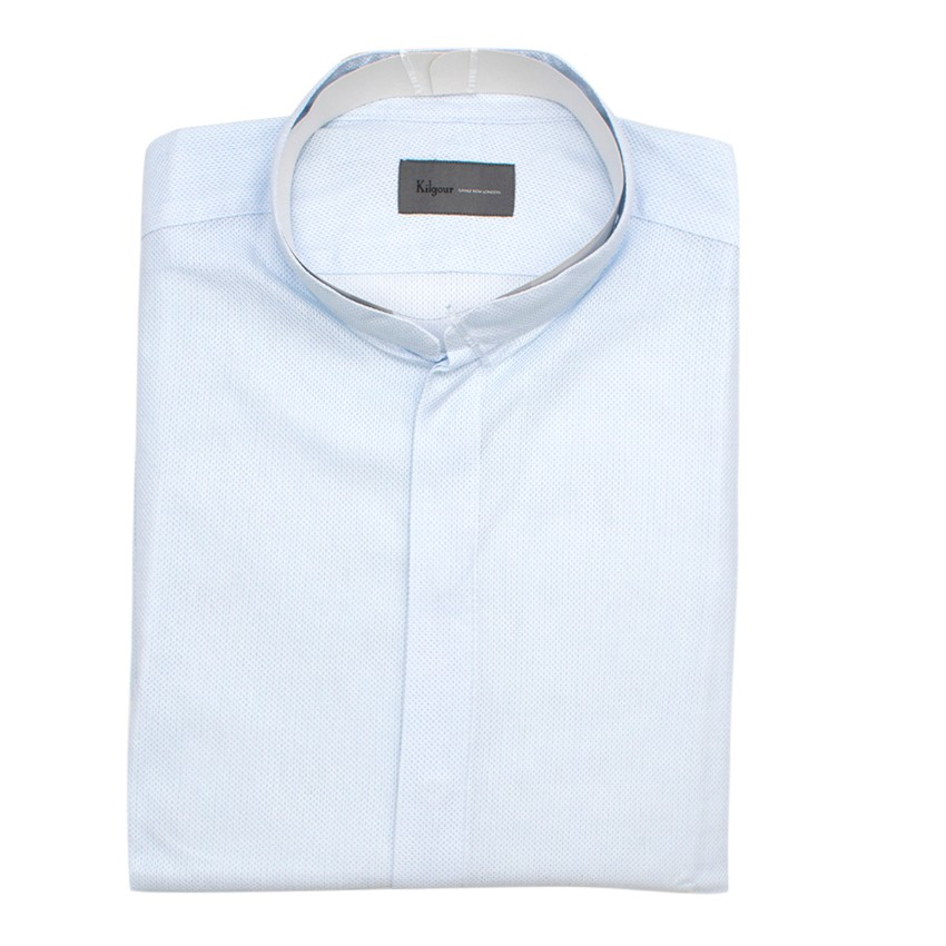 Kilgour Light Blue Cotton Pique Shirt