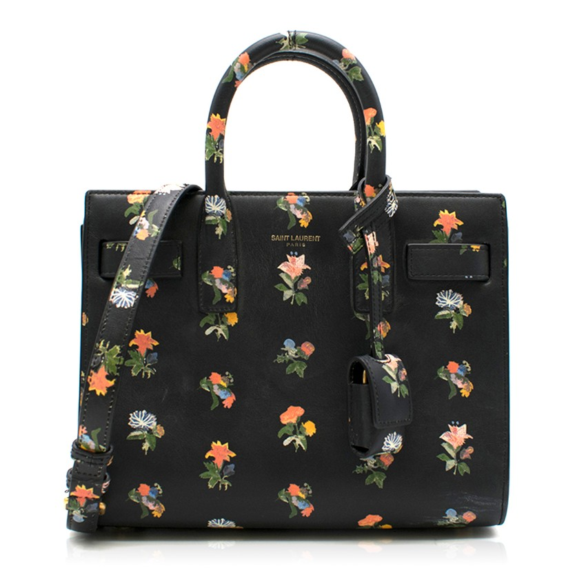 Saint Laurent Sac de Jour Prairie Floral Nano Bag