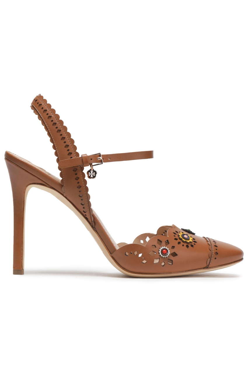 Tory Burch Embellished Lasercut Sandals