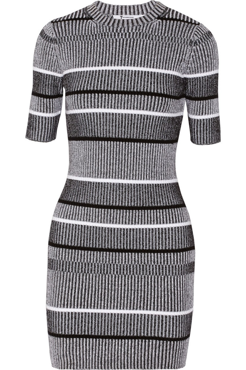 T By Alexander Wang striped knit dress
