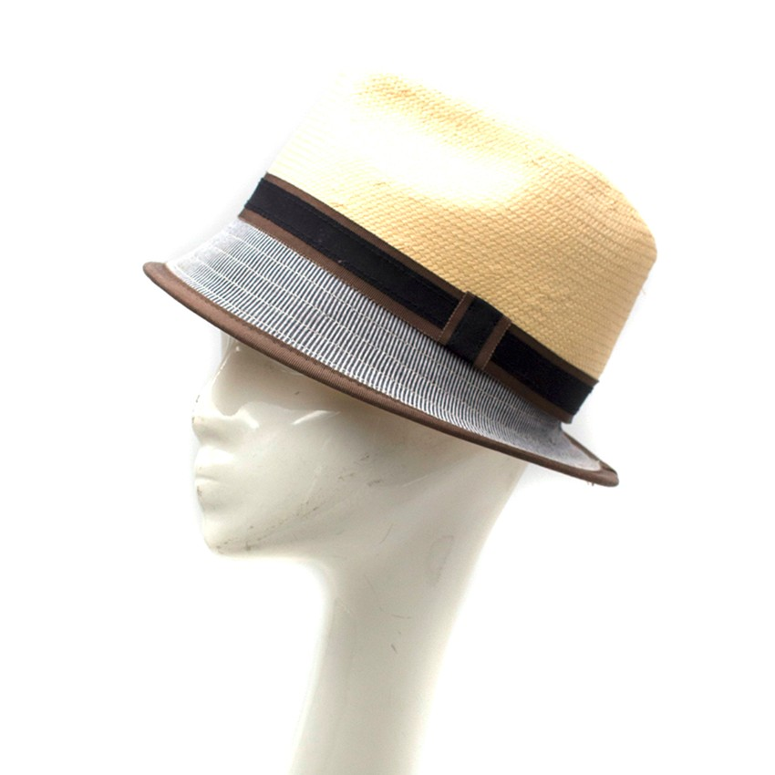 Bernstock Speirs Beige Multi Colored Trilby Hat