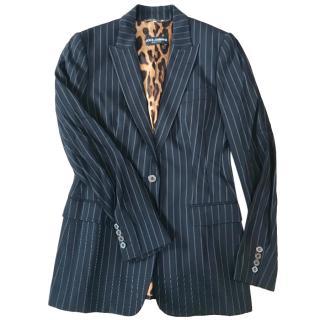 Dolce & Gabbana Navy Pinstripe Jacket
