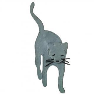 Miu Miu Leather Cat Brooch